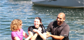 Baptisms in Lake Sammamish
